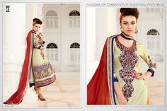 2643b5f3f3 SALWAR KAMEEZ INDIAN PAKISTANI DESIGNER 2RMP207 UNSTITCH ANARKALI DRESS SUIT  U