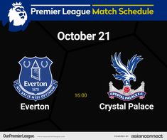 Crystal Palace Fc, Match Schedule, Premier League Matches, Everton, Day