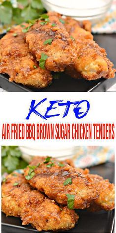 Easy, fast & simple gluten free, sugar free keto recipe for the BEST low car Chicken Strip Recipes, Chicken Tender Recipes, Keto Chicken, Bbq Chicken, Chicken Strips, Free Keto Recipes, Low Carb Recipes, Quick Recipes, Healthy Recipes