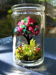 Diamond Crystal terrarium April  Birthstone Fairy by phoenixchiu