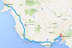 Things to see on Perth to Melbourne road trip. Perth to Melbourne road trip map Road Trip Map, Road Trips, Adelaide Sa, South Australia, Perth, Melbourne, National Parks, Around The Worlds, Ocean