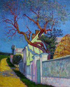 The Red Tree House. Dutch artist Vincent van Gogh (1853-1890)