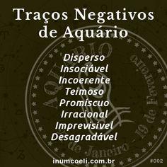 Traços Negativos de Aquário