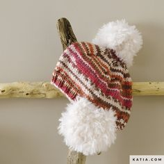 Lana, Winter Hats, Crochet Hats, Fashion, Sewing Needles, Tricot Baby, Earmuffs, Pom Poms, Plushies