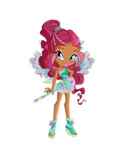 Princess Aisha (Princess Layla in some versions) is the Princess of Andros and a member of the Winx Club who joined in the second season and a former student of Alfea College for Fairies.