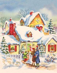 833 Best Vintage Christmas Cards Images Vintage Christmas Retro