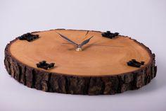 Jelšové hodiny so skrutkovým ciferníkom Jelsa, Wood Watch, Clock, Wall, Accessories, Home Decor, Wooden Clock, Watch, Decoration Home