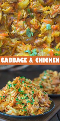 This succulent Cabbage and Chicken is hearty, filling, and so delicious. Just a few ingredients and about 15 minutes of active cooking time make up this amazing dinner. This is my Best Recipe yet! Low Carb Recipes, Diet Recipes, Cooking Recipes, Cooking Time, Healthy Cabbage Recipes, Cooked Cabbage Recipes, Recipies, Cheap Recipes, Cooking Videos