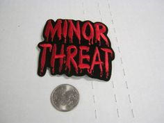 Minor Threat Dripping Red Logo IRON/SEW ON EMBROIDERED PATCH NEW 3x3