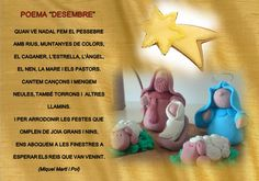 Trencaclosques: Poema de Nadal: Desembre Christmas Poems, Christmas Crafts, Winnie The Pooh, Marie, Disney Characters, Fictional Characters, Arts And Crafts, Printables, Album