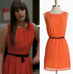 "An inexpensive alternative to Rachel's ""I Just Can't Stop Loving You"" dress.  Ruche Divine Sunset Belted Dress - $46.99"