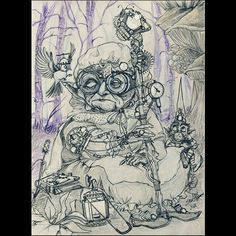 #witch #onibaba #witchcraft #wizard #steampunk #gnome #dwarf #wizardstick #magicwand #staf #minerlamp #magicforest #coffeebreak #journey #birds #oldwitch #steampunkgoggles #sorcerybook #pointyhat #sketchbook #sketch #artoftheday #camping #fantasyart #fairies #mystic #mythology #grandmother #granny #conceptart