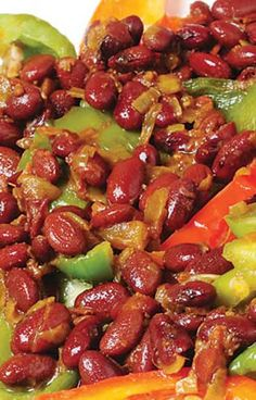 Stir-Fried Capsicum and Kidney Beans