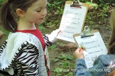 Let's head outdoors and check out nature. Fun activity for young children to explore nature. Preschool Science Activities, Teach Preschool, Nature Activities, Science Classroom, Toddler Activities, Teaching Kids, School Scavenger Hunt, Scavenger Hunts, Outdoor Centre