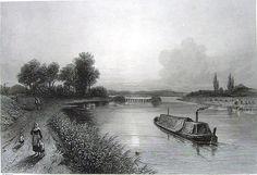 England, Midlands RIVER TRENT ~ Old 1876 Landscape Art Print Engraving RARE!!