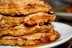 Yum..made these this morning but used bisquick pancake mix and left out the choc chips and oats