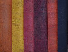 MB Cork Portuguese Cork Fabric -natural cork size 60x67cm / 23.6x26.3 inch Eco-friendly Vegan  Dark red cork Rustic cork cortica  COF-18