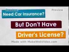 get a car insurance without driver license
