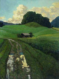 Josef Stoitzner, After the Rain, 1925. - Josef Stoitzner (1884-1951) war ein österreichischer Maler und Grafiker.