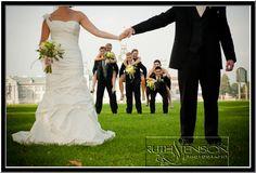 wedding party, RMC, Kingston Ontario