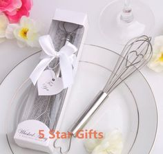 "New Arrival 50PCS/LOT  ""The Perfect Mix""  Kitchen Whisk+ wedding bridal shower favor party gifts  (White gift box) $97.50"