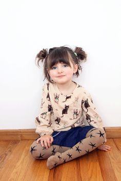 Mini Rodini Kitten Blouse & Bobo Choses Tights Stars // poppyscloset.com
