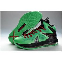 www.anike4u.com  Cheap Nike Lebron 10 Elite Green Black Red Christmas Lebron e6dc38a0ed13