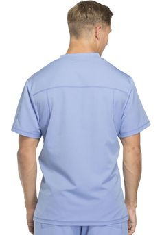 Dickies Dynamix Men's V-Neck Top in Ciel Blue from Dickies Medical Scrubs Uniform, Uniform Design, V Neck Tops, Polo Ralph Lauren, Family Practice, Sleeves, Mens Tops, Anatomy, Fashion