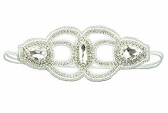 """Pink Pewter Authentic Bridal Collection """"Sarah"""" White Statement Headband Stretch Band Hair Jewelry Pink Pewter http://www.amazon.com/dp/B00UGSB17C/ref=cm_sw_r_pi_dp_l15evb150X74Y  #pinkpewter @pinkpewter"""