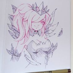 My #doodle #mania continues with #elementalist #lux and her #dark version! #cute #kawaii #elementalistlux #traditional #art #ootd #pink #hair #magical #girl #mage #druid #magician #leagueoflegends #riotgames #lighanesartblog #lighane