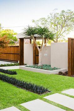 allées de jardin, extérieur joli et une palissade stylée en bois