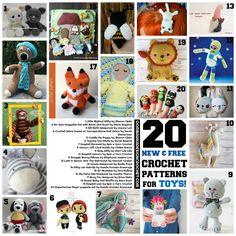 20 New Free Crochet Patterns for Toys! https://oombawkadesigncrochet.com/2017/08/20-new-free-crochet-patterns-toys.html