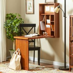 Andover Mills Wall Mounted Fold Up Desk