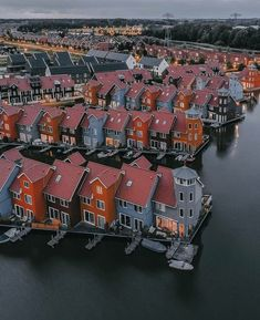 A series of houses ~ Groningen, Netherlands Photo: Awesome! - Best Places to Visit X Cool Places To Visit, Places To Travel, Travel Destinations, Places To Go, Europe Centrale, Visit Holland, Foto Blog, Once In A Lifetime, Travel Abroad