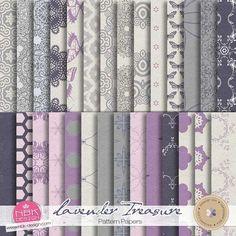 Lavender Treasure {Pattern-Papers} by NBK Design    September 2014 Memory Mix @ Memory Scraps