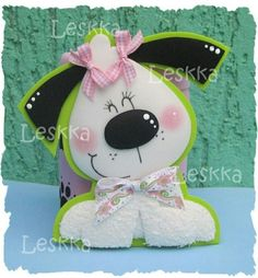 Foam Crafts, Diy And Crafts, Crafts For Kids, Arts And Crafts, Paper Crafts, Dog Cards, Art N Craft, Cartoon Dog, Tole Painting