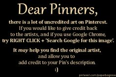 Google for the Pinterest Junkie: try this next time you find an uncredited image you want to pin. :)