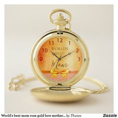 World& best sister gold sparkle rose gold glam pocket watch - glamour gifts diy special unique Best Sister, Best Mom, Gold Pocket Watch, Gold Watch, Gifts For Your Sister, Gifts For Friends, Personalized Pocket Watch, Christmas Gift For You, Make A Gift
