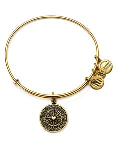 "Alex and Ani True Direction Expandable Wire Bangle | Made in USA | 2.25"" diameter 