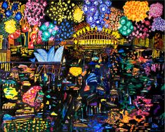 Ken Done - Buscar con like the 1984 night sky painting Firework Painting, Night Sky Painting, Australian Painters, Australian Artists, National Art School, Fireworks Art, Art Terms, Kendo, Indigenous Art