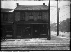Northwest corner Queen and Euclid, Toronto, February 26, 1912. #Edwardian #streets #winter #vintage #Canada