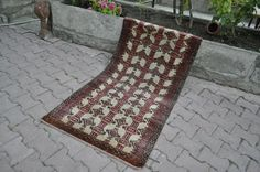 "Runner Size Turkish Rug 2'7"" x 5'4"" Vegetable Dyed Vintage Rug Turkey Rug Boho Rug Turkish Rugs Wool Rug Rugs Decorative Bohemian Rug"