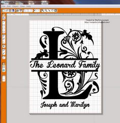 ~ Marilyn's Crafts ~: Creating a Split Letter in Silhouette