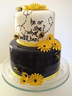 What Will Baby Bee Shower Cake