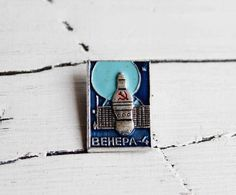 Nasa pin Nasa jewelry Space pin Space badge Space jewelry Soviet space Rocket pin USSR space gift Sp