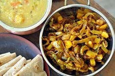 Bihari Karela and Aloo Ki Subzi Recipe