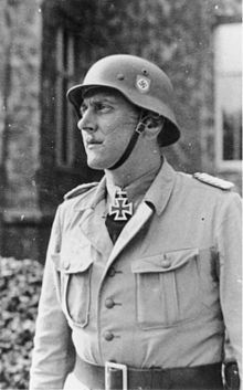 Otto Skorzeny was an SS-Obersturmbannführer in the German Waffen-SS during World War II. After fighting on the Eastern Front, he was chosen as the field commander to carry out the rescue mission that freed the deposed Italian dictator Benito Mussolini from captivity. Skorzeny was also the leader of Operation Greif. At the end of the war, Skorzeny was involved with the Werwolf guerrilla movement and the ODESSA network where he would serve as Spanish coordinator.