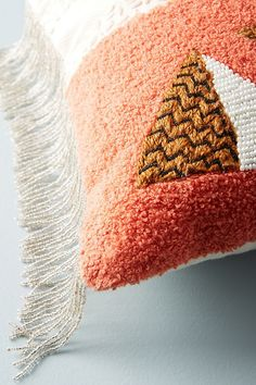 Slide View: 3: Embellished Shape Study Cushion Anthropologie, Cushions, Pillows, Study, Shapes, Crafts, Textiles, Living Room, Throw Pillows