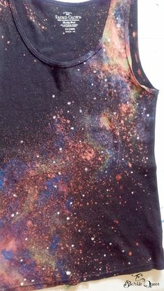 DIY Galaxy Tank Top {with a hidden Doctor Who TARDIS}<< This is awesome!