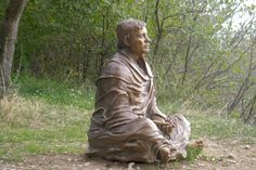 I love this sculpture of St. Francis of Assisi. Such a non-tradition depiction...